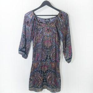 Angie paisley boho dress in size medium.